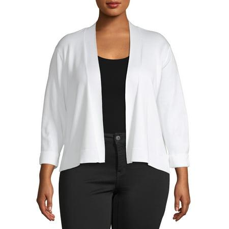 Heart & Crush Women's Plus Size Straight Front Bolero Cardigan