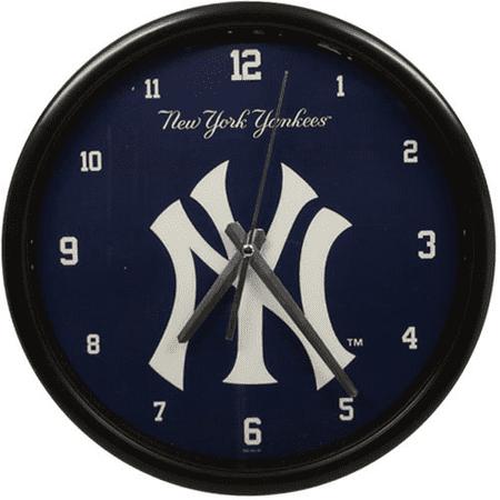 New York Yankees Black Rim Basic Clock - No Size