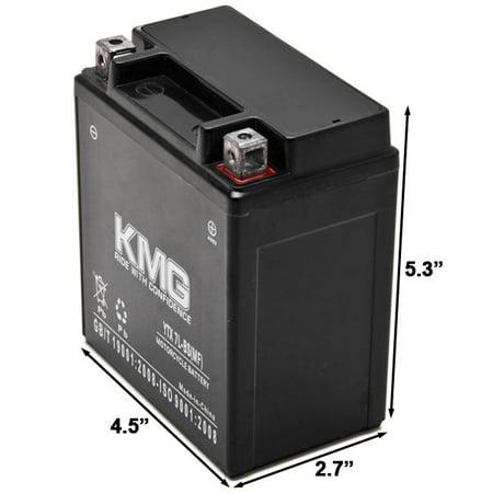 KMG 12V Battery for Honda 250 CMX250C Rebel 1996-2011 YTX7L-BS Sealed Maintenace Free Battery High Performance 12V SMF Replacement Powersport Battery - image 1 de 3