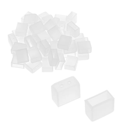 8 Mm End - 50pcs Silicone Plug Fit 3528 8mm  Tube  End Cap Cover w 2 Holes