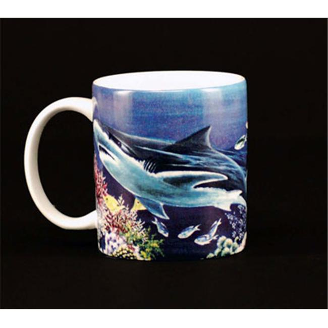 Euland China MA0-010S Set Of Two 12-Ounce Mugs - Shark