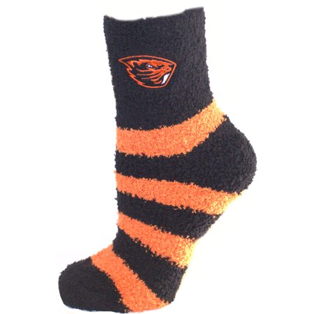 (Oregon State Beavers Striped Fuzzy Sock)