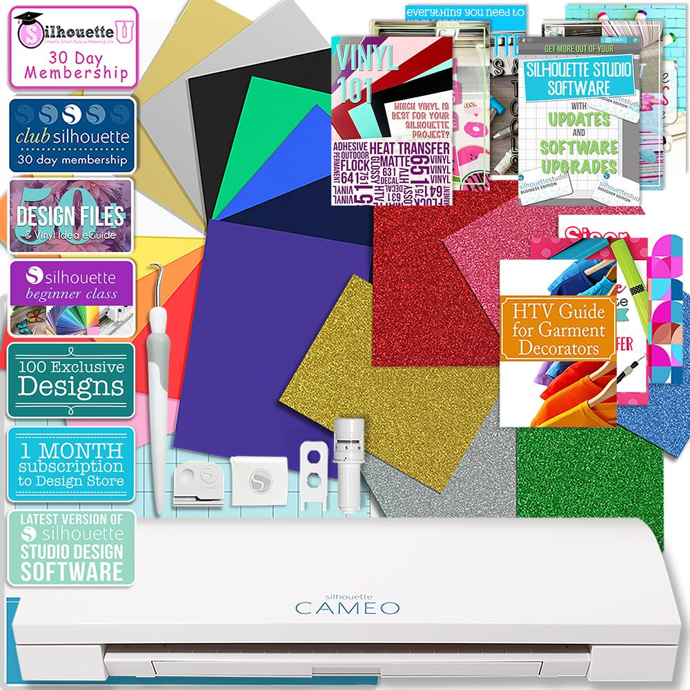 Silhouette Cameo 3 Bluetooth Deluxe Siser Easyweed Heat Transfer Bundle