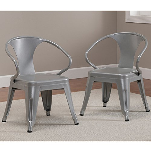 Exceptionnel Kids Tabouret Stacking Chairs Nonmar Foot Glides, Durable Steel  Construction Stackable Chair Set Of 2