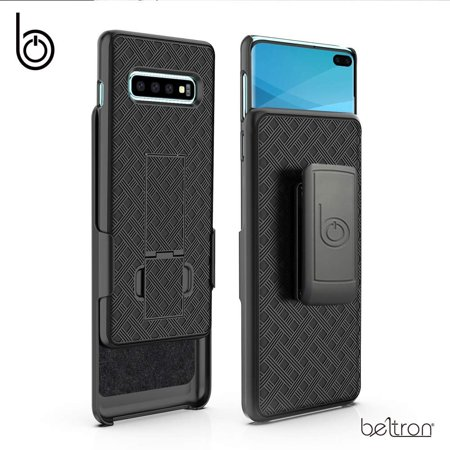 BELTRON Case with Clip for Samsung Galaxy S10 Plus, Super Slim Fit Protective Case & Rotating Belt Clip Holster Combo with Built-in Kickstand for Samsung Galaxy S10 Plus G975 Cell Phone