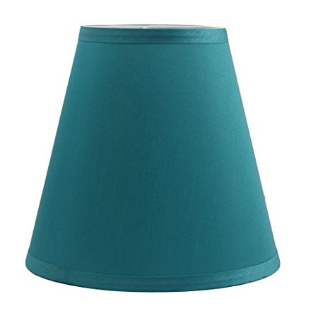 Urbanest Hardback Silk Empire Lamp Shade 5-inch by 9-inch by 8.5-inch, Teal (Silk Shade Kit)