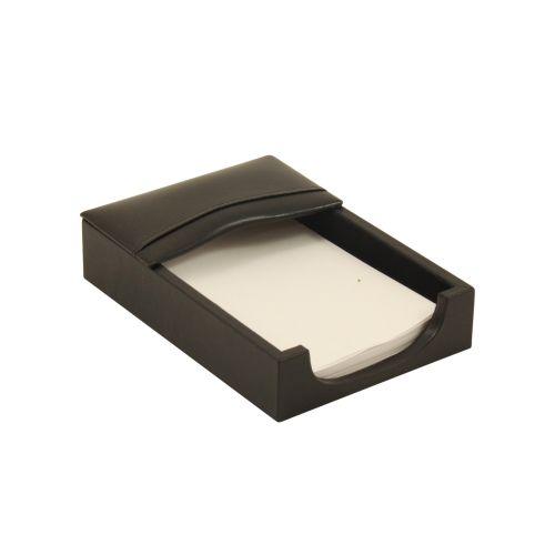 "Bey Berk Black Leather 4""X6"" Memo Holder by Bey Berk"