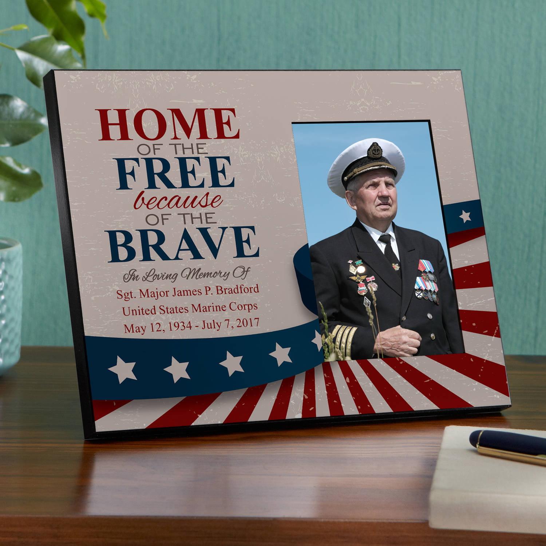 Personalized American Hero Memorial Frame