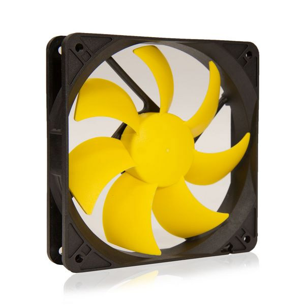 SilenX EFX-12-12 Effizio Silent Case Fan - 120mm, Fluid Dynamic Bearing, 12dBA, 1100 RPM, Yellow Blades