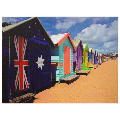 Oriental Furniture Beach Cabana Photographic Print on Wrapped Canvas