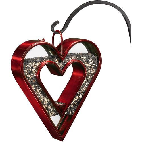 Good Directions Heart Fly-Thru Bird Feeder