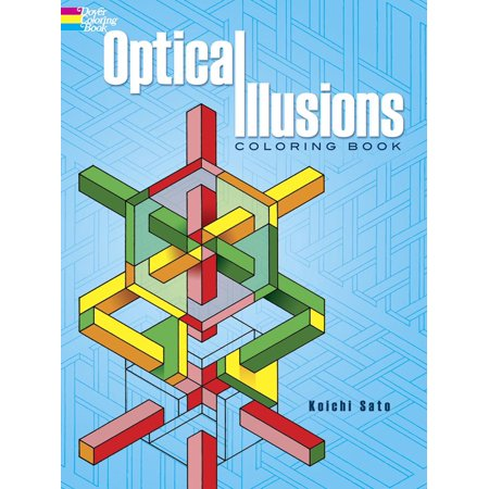 Dover Design Coloring Books: Optical Illusions Coloring Book ...