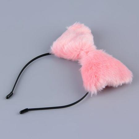 Cute Party Cats Fox Long Fur Ears Anime Neko Costume Hair Headband Cosplay - Anime Cosplay Costume