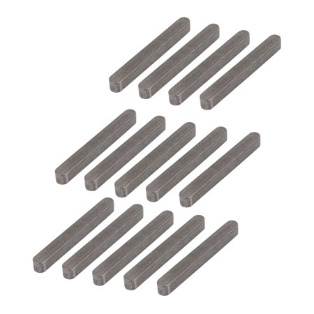 Unique Bargains 36mmx4mmx4mm 304 Stainless Steel Key Stock Keystock Round Ended 14pcs - image 1 of 2