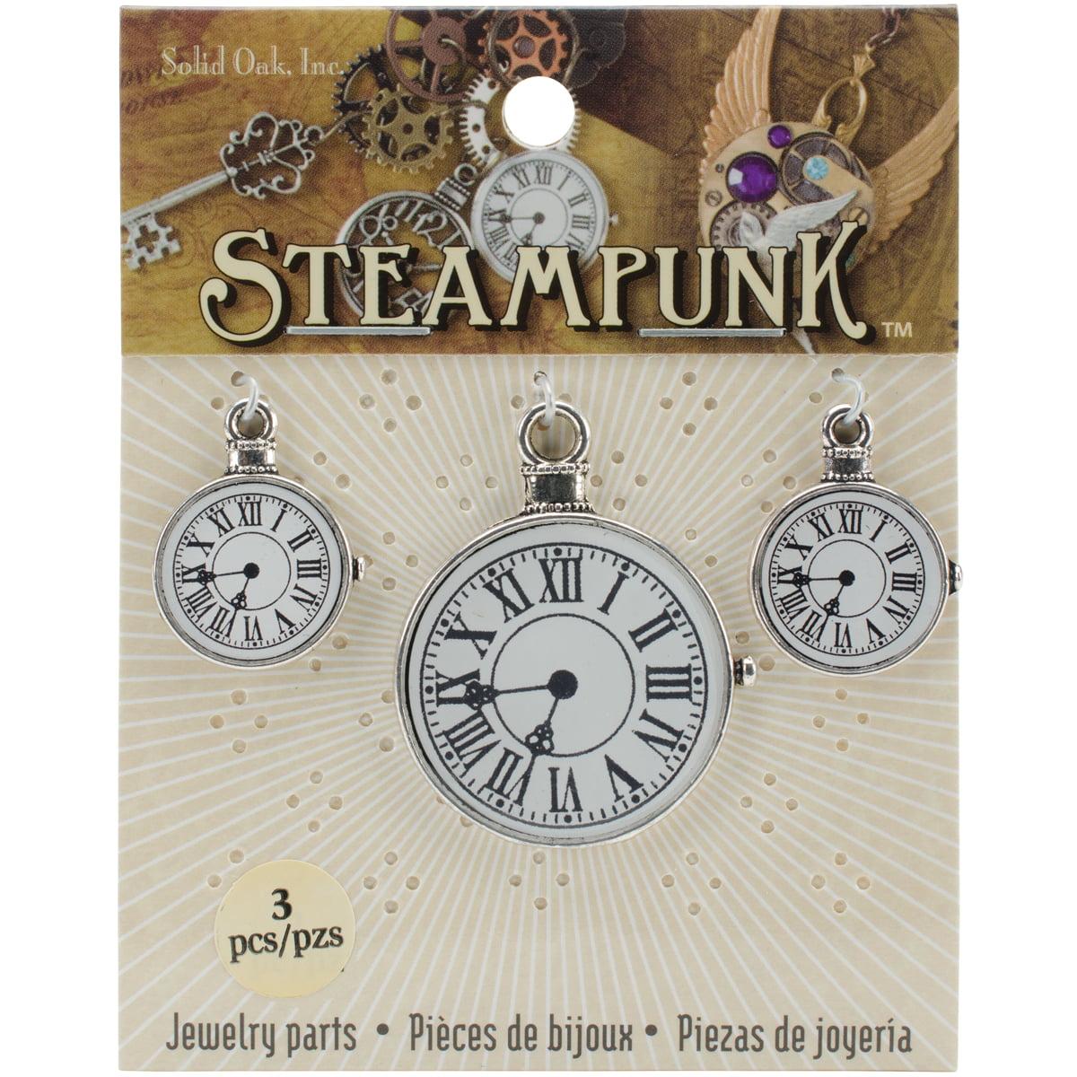 Steampunk Metal Accents 3pk, Clocks 2