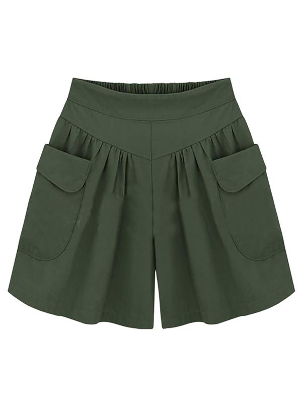 EFINNY Plus Size Women Summer Wide Leg Shorts Pants