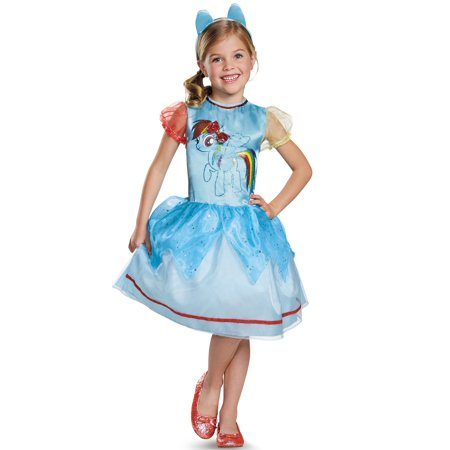 Rainbow Dash Classic Dress Child Costume - Rainbow Costume Ideas For Kids