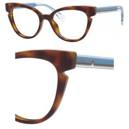 Eyeglasses Fendi Ff 134 0N9D Havana Crystal Blue