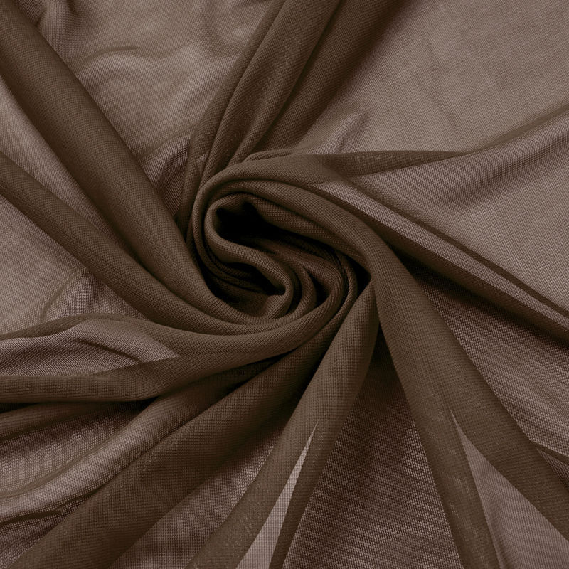 "120"" Wide Sheer Voile Chiffon Fabric By Yard Draping Drape Panel Wedding Dress"", (Color: Brown)"