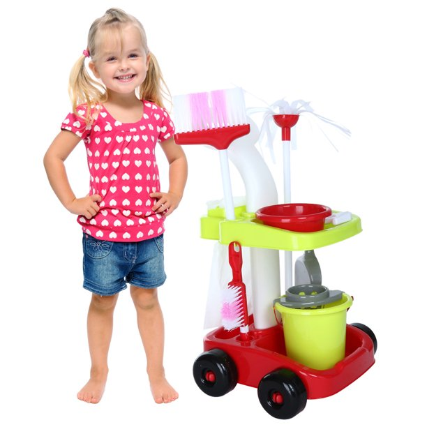 Cotonie Childrens Cleaning Set Broom Mini Sweeper Toy