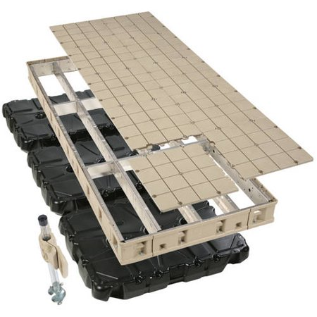 PlayStar Premium Frame Floating Dock Kit with Resin Top, 4' x 10'