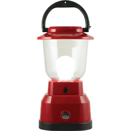 GE Enbrighten Outdoor LED Lantern, USB Port, Battery Operated, Red, 29923