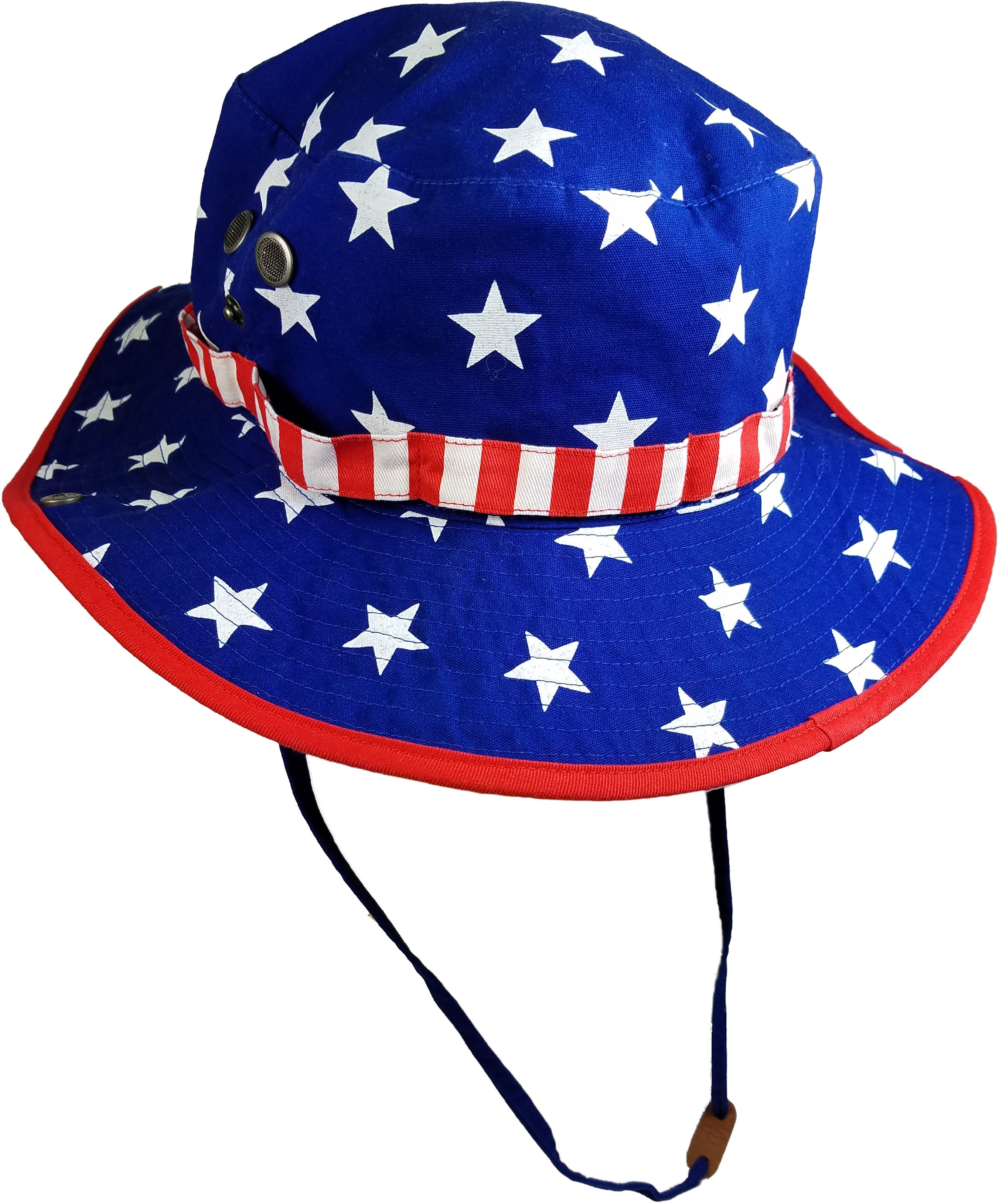 LICENSE - Men s Americana Printed Stars and Stripes Cotton Boonie Hat with  Adjustable Strap - Walmart.com 6a09b8eebd7