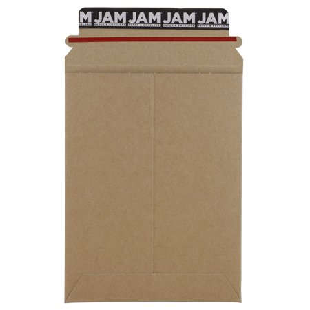 JAM Paper Recycled Photo Mailer Envelopes, 6 x 8 in, Brown Kraft, Pack of 6