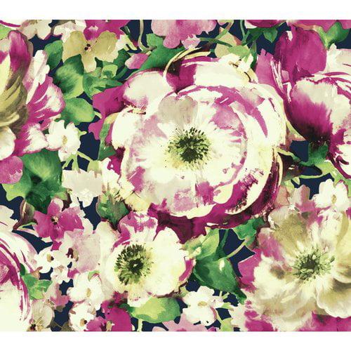 York Wallcoverings Watercolors 27' x 27'' Poppy Wallpaper Roll