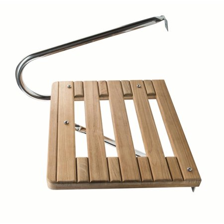 Teak Swim Step (Whitecap 60900 Teak Swim Platform for Boats with Outboard)