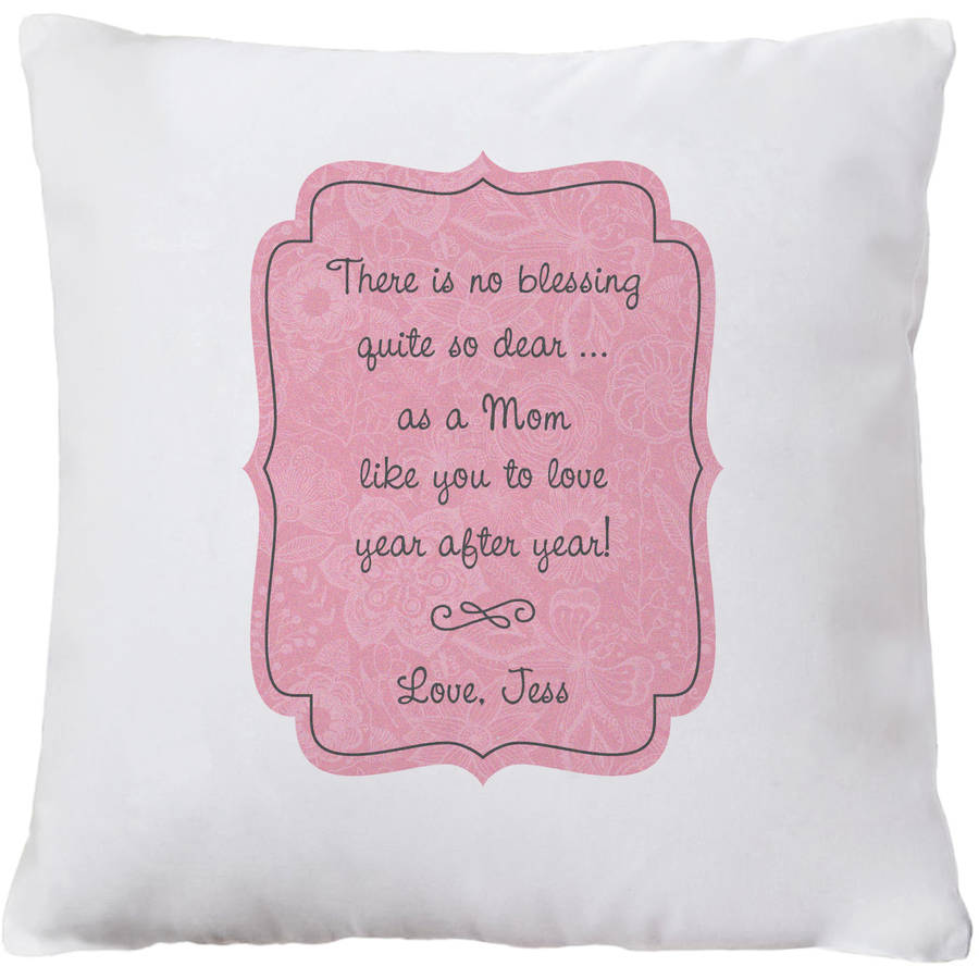 Personalized Blessing Throw Pillow, Available in Pink or Teal