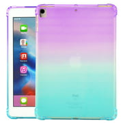 iPad 10.2 Case, iPad 7th Generation Case, Allytech Soft TPU Silicone Gradient Shockproof Anti-scratch Protection Drop Proof Back Cover Shell for Apple iPad 7th Generation 2019, Purple/Mint