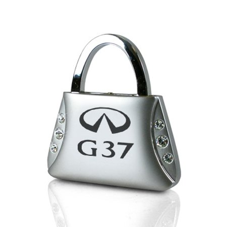 Infiniti G37 Clear Crystals Purse Shape Key Chain 08 Infiniti G37 Coupe