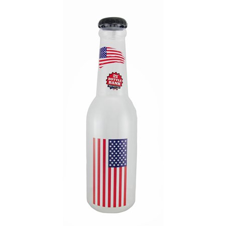 American Flag Jumbo 21 Inch Tall Bottle Coin Bank Usa