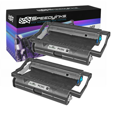 Speedy Inks - 2PK Brother PC201 Compatible Fax Cartridge with Roll for use in Brother Intellifax 1170, 1270, 1270e, 1570MC, 1575MC, MFC-1770, MFC-1780, MFC-1870MC, MFC-1970MC