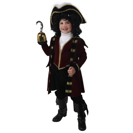 Child Deluxe Captain Hook Costume - Deluxe Captain Hook Costume