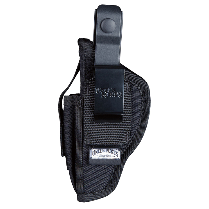 Uncle Mike's 70160 Hip Holster with Magazine Pouch, Size 16, Black Nylon