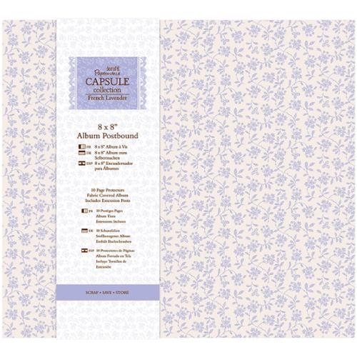 Papermania French Lavender Postbound Album 8inX8in