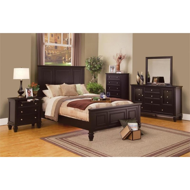 Coaster Furniture 5 Piece California King Panel Bedroom S...