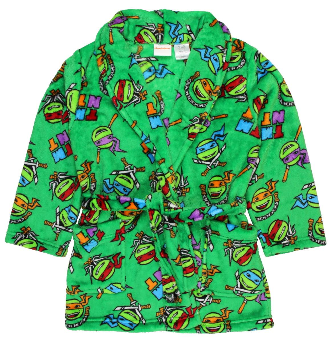 TMNT Teenage Mutant Ninja Turtles Boy's Green Robe