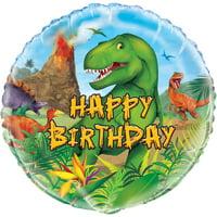 Foil Dinosaur Birthday Balloon, 18in, 1ct