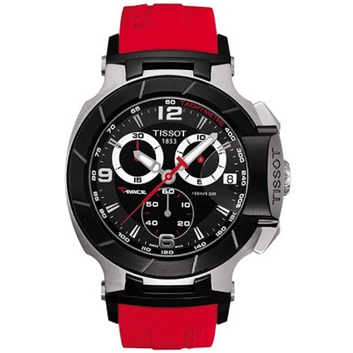 Tissot T-Race T0484172705701 45  Stainless Steel Case Red...