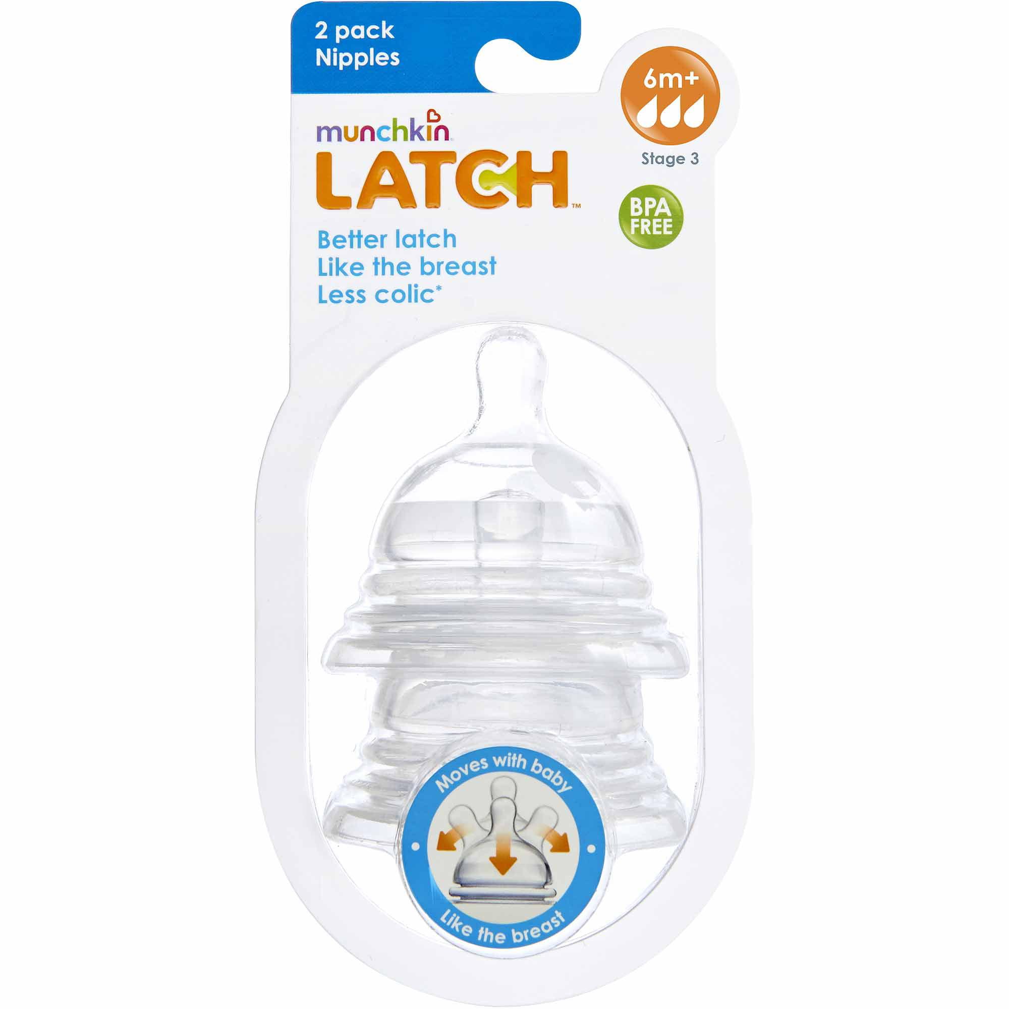 Munchkin LATCH Stage 3 Nipple, BPA-Free, 6+ Months - 2pk - Walmart.com