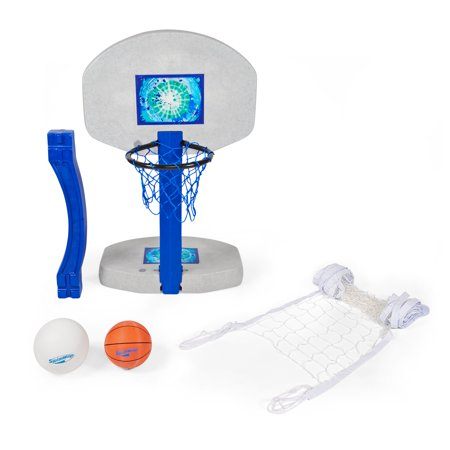 SwimWays 2-In-1 Volleyball And Basketball Swimming Pool Water Game Set | 00381
