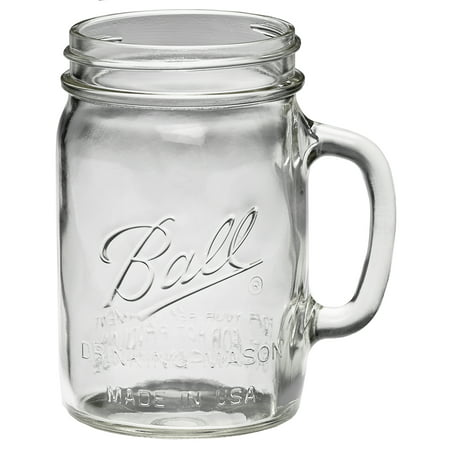 Ball® 1-1/2 pint 24 oz. Glass Drinking Mason Jars, 4 -