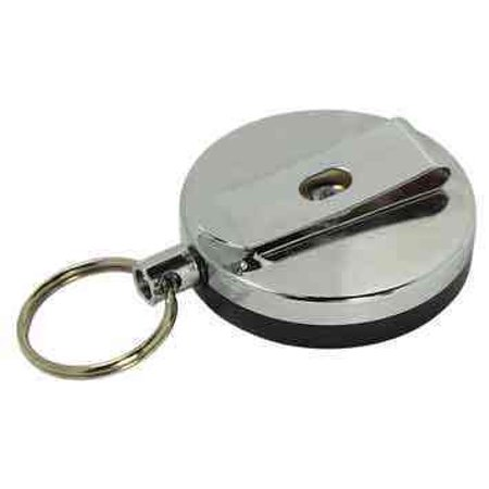 Retractable Key Ring Chain Keychain Retracting Pull Wire Cable Reel Clip On Belt - Key Clips