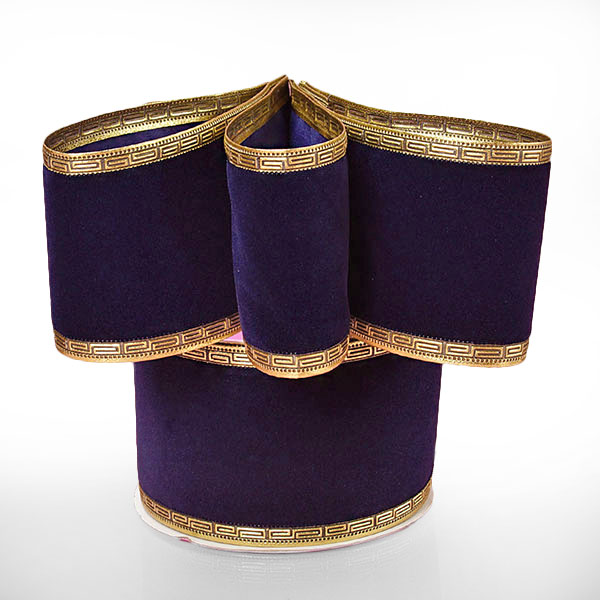 "2 1/2"" X 10 Yards Glitter Gold Diagonal Stripe Metallic Ribbon"