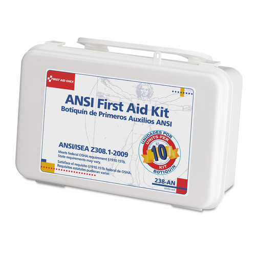 Click here to buy First Aid Only ANSI-Compliant First Aid Kit, 64 Pieces, Plastic Case by First Aid Only.