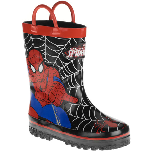 Spiderman Boy's Toddler Pull-up Rainboot