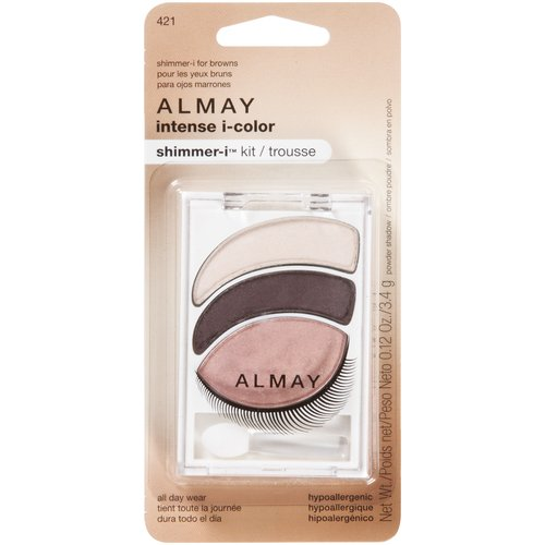Almay Intense I-Color Shimmer-I Trio Powder Shadow Kit for Browns 421, 0.12 oz